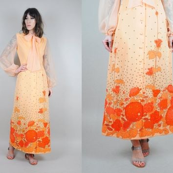 Alfred Shaheen Signed Floral 60's Dress