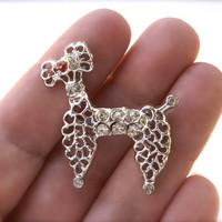 Poodle Brooch Dog Pin