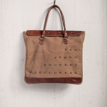 MONA B RECYCLED CANVAS STARDOM CARRY-ALL ECOFRIENDLY TOTE BAG PURSE
