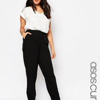 ASOS CURVE New Basic Straight Leg Trouser at asos.com