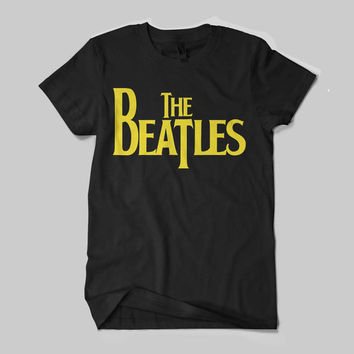 The Beatles Rock Band Legend UK Logo Black and White Shirt Men or Women Shirt Unisex Size