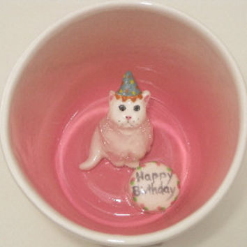 Birthday Cat Surprise Mug