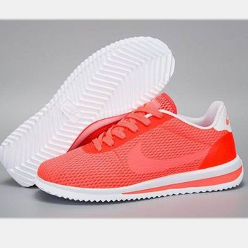 NIKE Cortez Forrest gump lovers shoes running shoes running shoes orange red-white sol