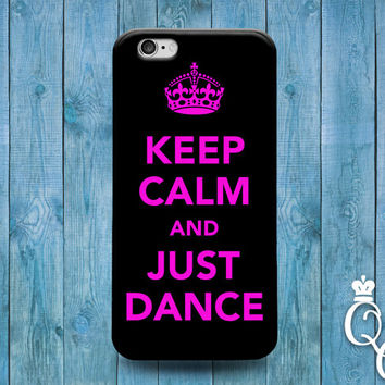 iPhone 4 4s 5 5s 5c 6 6s plus iPod Touch 4th 5th 6th Generation Funny Cover Pink Black Keep Calm Quote Dance Dancing Ballerina Phone Case