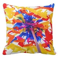 Colorful flags throw pillow