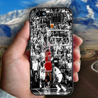 MIchael Jordan Shot in Black and White - Print on hard plastic case for iPhone case. Select an option