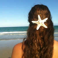 Large Natural Knobby Star fish hair clip by IndianSummerGirls