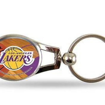 Los Angeles Lakers Oval Key Chain NBA Keyring