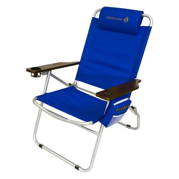 Hang Ten Mauna Loa Oversize 650 lb. Beach Chair (Royal Blue)