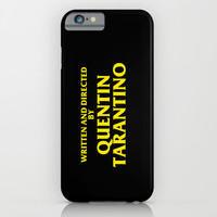Written And Directed By Quentin Tarantino iPhone & iPod Case by FunnyFaceArt