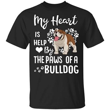 My Heart Is Held By The Paws Of A Bulldog Lover