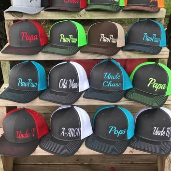 Dad Hats, Grandpa Hats, Father's Day Hats