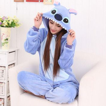 PEAPIX3 Lovely Winter Couple Cartoons Animal Sleepwear Halloween Costume [9221221380]