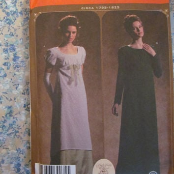 UnCut Simplicity Sewing Pattern, 4055! Sizes 14-16-18-20, Regency Gowns/Dresses, 1700's Early 1800's, Pride & Prejudice, Sense/Sensibility