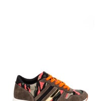 Army Of One Camo Print Tennis Shoes
