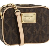 Michael Kors Jet Set MK Signature Cross-Body Bag in PVC