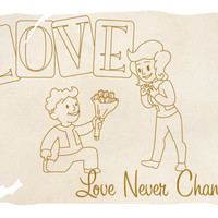 Love Never Changes Geeky Greeting Card