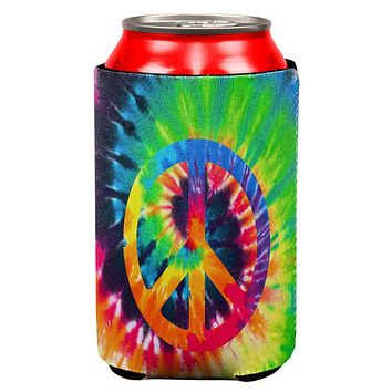 Peace Sign Tie Dye All Over Can Cooler