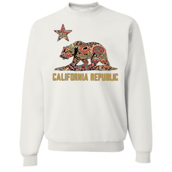 California Republic Paisley Crewneck Sweatshirt