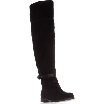 Franco Sarto Crimson Wide Calf Riding Boots, Black, 8 US / 38 EU