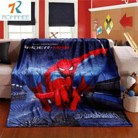Romanee 2016 Fashion Autumn/Winter Cartoon pattern Spiderman Coral fleece blankets for Kids can be bed sheet the throws Soft
