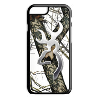 White Snow Browning Camo iPhone 4S 5S 5C 6/6S Plus Case Hunting Deer Buckhead Custom Cover