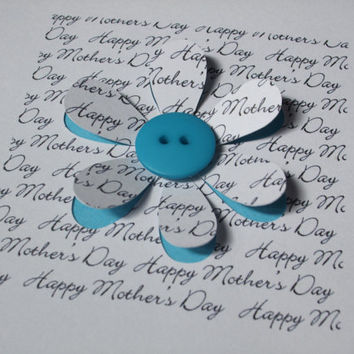 Mother's Day Card-button flower