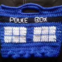 Dr. Who Tardis inspired purse/tote