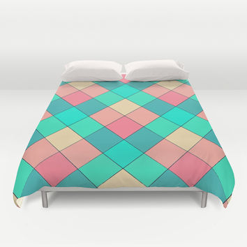 Candy Squares Duvet Cover by Shannon Clark Photo & Art