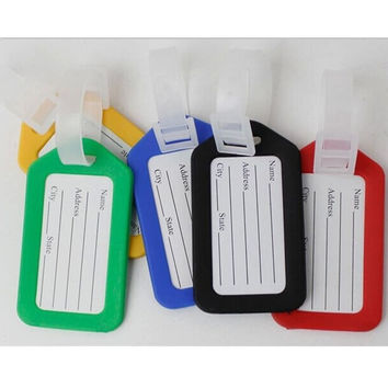 2pcs Random Color Hot Sale Tags Labels Strap Name Address ID Suitcase Bag Baggage Travel Luggage