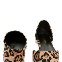 Menagerie Leopard D'Orsay Flats