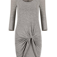 Sheath Pencil Dress with Knot Detail