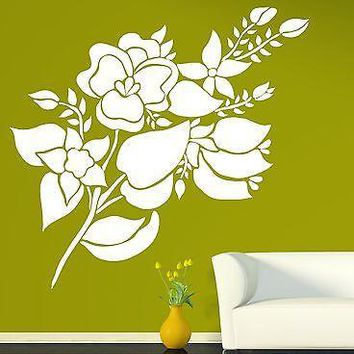 Wall Sticker Vinyl Decal Great Floral Ornament for Room Decoration Unique Gift (n262)
