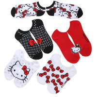 Sanrio Hello Kitty Bows No-Show Socks 6 Pair