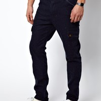 ASOS Slim Chinos In Nepp Fabric With Cargo Pockets
