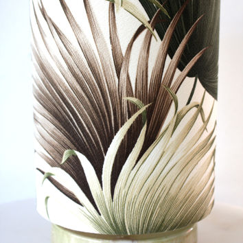 palm leaf tropical circle lamp/SOLD