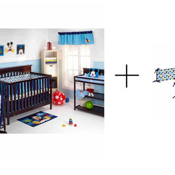 Disney Baby Mickey Bedding Complete Crib Bedding Sets with Bumper Included Bundle