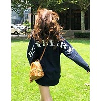 BURBERRY Classic Fashion Couple Casual Print Round Collar Sweatshirt Sweater