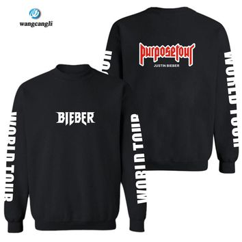 Justin Bieber Purpose Tour Hoodies Men Sweatshirts 4XL For Winter Autumn in Kanye West Fear of Hoodies and Sweatshirts Mens