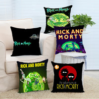 Rick and Morty Cool Comfort Cover Case 14x14 16x16 18x18 20x20 24x24 inch Two Sides Zippered Home Throw Pillowcase