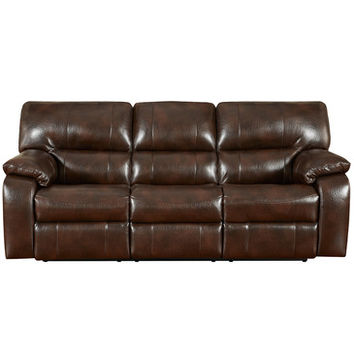Flash Furniture Exceptional Designs Canyon Chocolate Leather Reclining Sofa