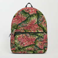 Chestnut Wasabi Foliage Backpack by Deluxephotos