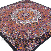 Queen Size Indian Cotton Elephant Star Printed Bedspread tapestry Hippie Bohemian Bedding throw Bedcover Home Decor