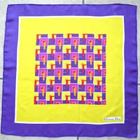 Authentic Christian Dior Silk Scarf Vintage Signature Hand Rolled Geometric