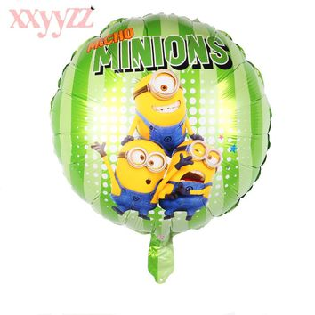 XXYYZZ New Air Balls Green Minions Balloons Despicable Me balloon Helium Minion Party Decoration Balloon Printed For Baby Gift