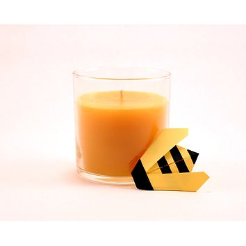 """Pure Beeswax Jar Candle 7 oz (3.5"""" H x 3"""" W)"""