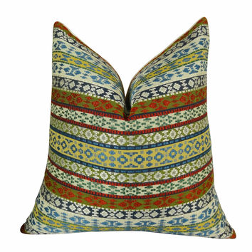 Plutus Fun Stripes Handmade Throw Pillow