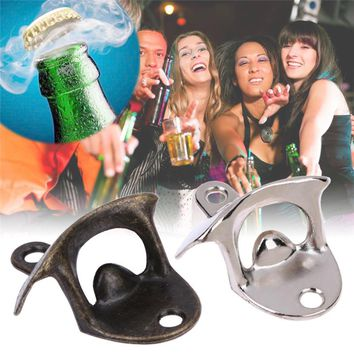 Wall Beer Opener Stainless Steel Retro Wall-Mounted Bottle Opener Wall Beer Opener The Bar The Kitchen Party Supplies