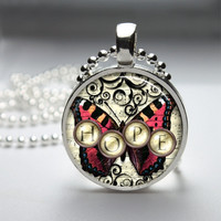 Photo Art Glass Bezel Pendant Hope Necklace