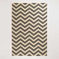 Urban Ivory Chevron Indoor-Outdoor Rug | World Market